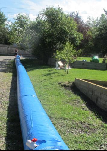 1 foot high x 100 foot long barrier